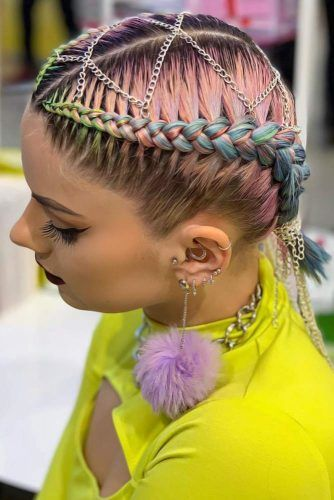 Braided Short Hairstyles Double #braids #shorthair