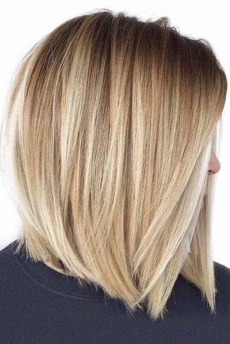 Lovely Hairstyles For Shoulder Length Hair Straight Bob #mediumhair #straighthair #bob