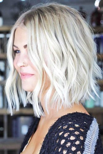 Hot And Trendy Short Hairstyles Wavy Bob #shorthair #wavyhair #bob