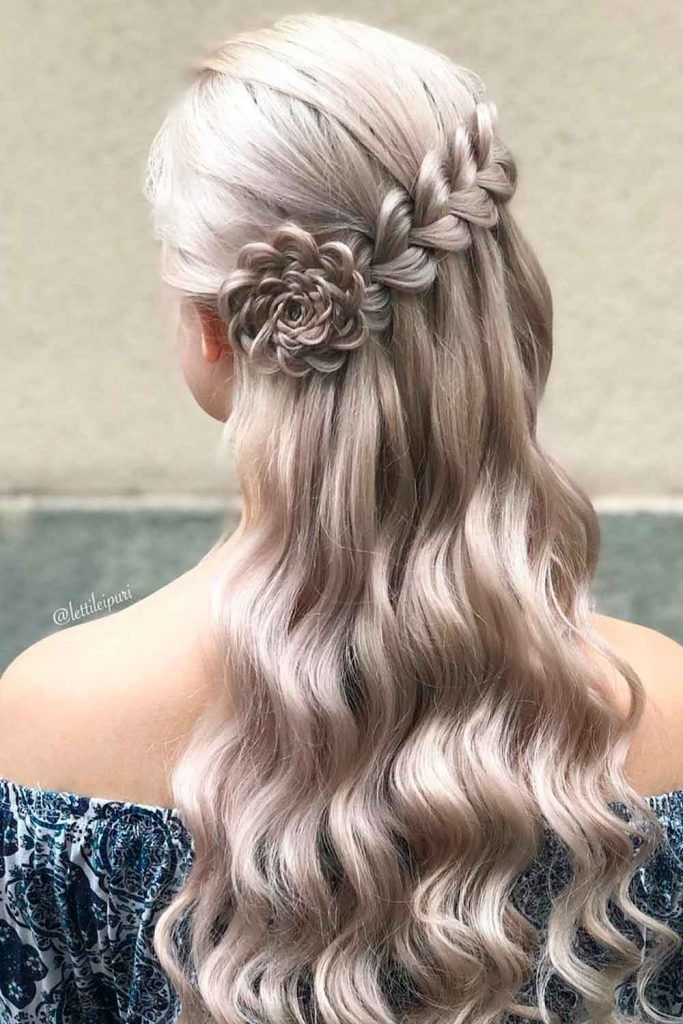 Romantic Bohemian Braided Rose