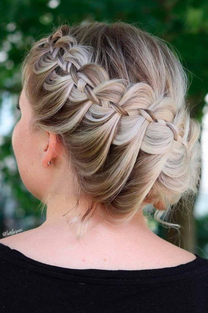 Elegant Crown Braided Updo