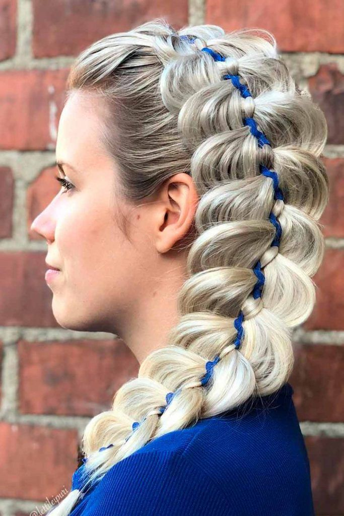 Dutch Braid With Ribbon