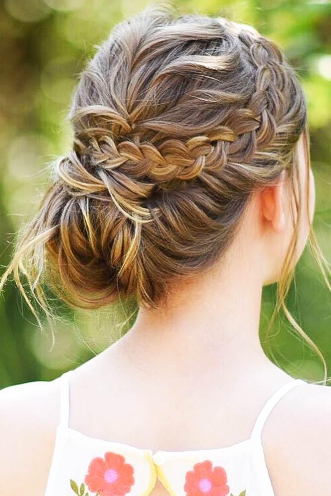 Elegant Crown Braids Bun #braids #udpo