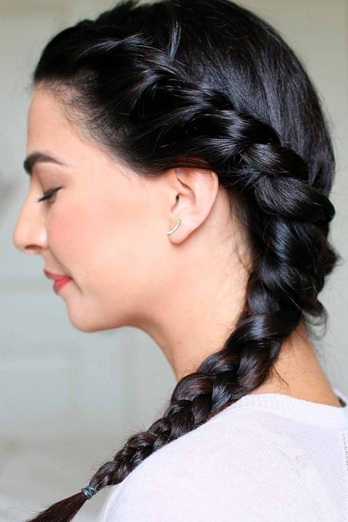 Faux French Braid #brunettes #fauxfrenchbraid