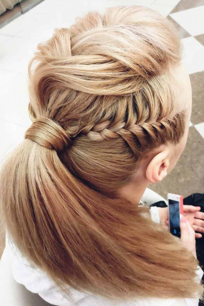 Fishtail Braid Into Ponytail