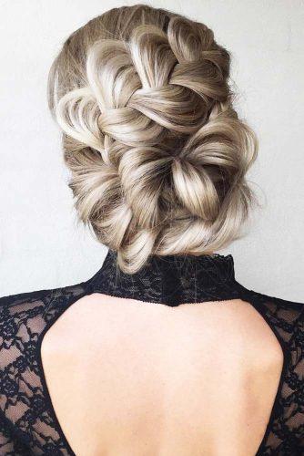 Elegant Crown Braids Updo #braids #updo