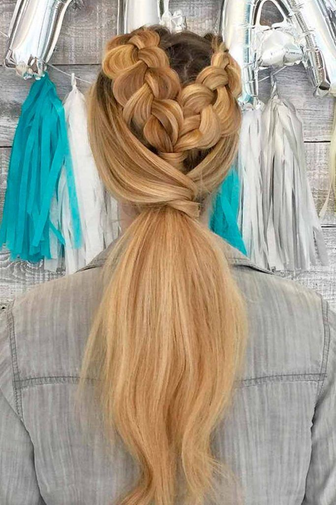 Add Small Side Braids into Your Ponytail