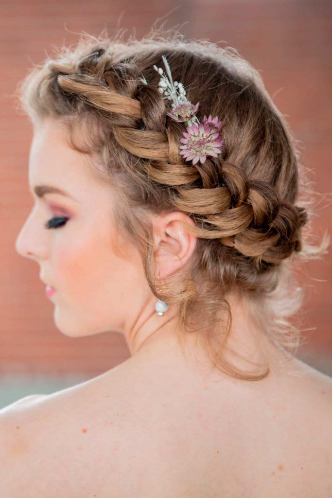 Elegant Crown Braids