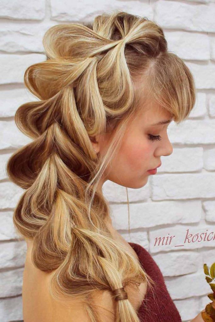 Messy Pull Through Braid Hairstyle