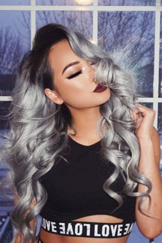 Silver Ombre Ideas on Long Hair picture3