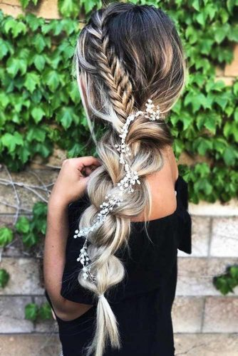 Side Braids for Long Hair Pull Through Braid #longhair #braids