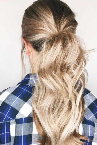 Middle Messy Ponytail Hairstyles picture 2