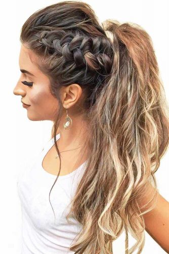 Ponytails with Lovely Braids picture 2