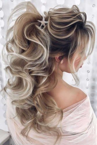 High Messy Ponytails With Accessories Long #ponytails #updo