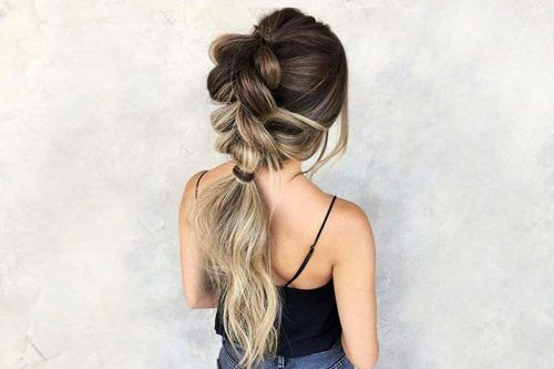 Date-Night Ideas Of A Braided Ponytail To Try Out