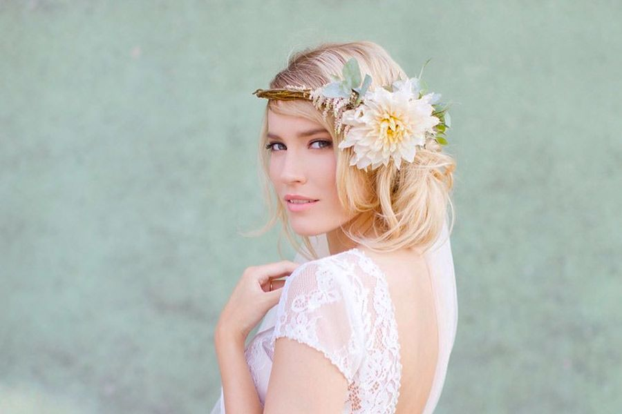 Looks with Wedding Headbands Inspired by Romance