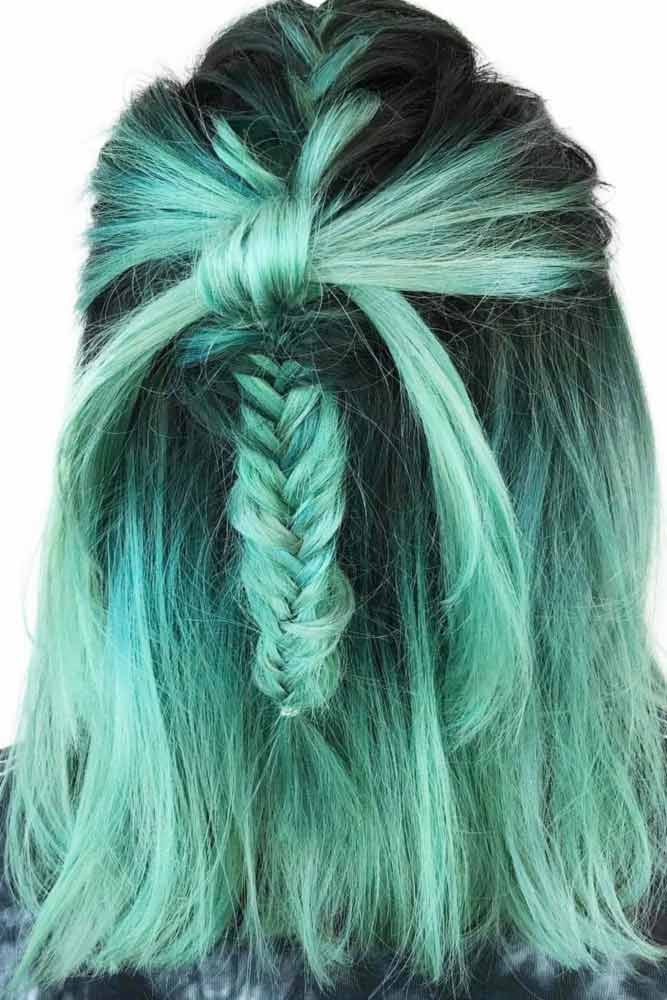Shoulder Length Hair with Braids picture 3