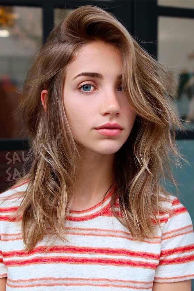 Wavy Layered Haircuts #shoulderlengthlayeredhair #shoulderlengthhairstyle #layeredhair