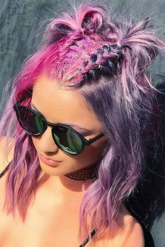 Shoulder Length Hair with Braids picture 2