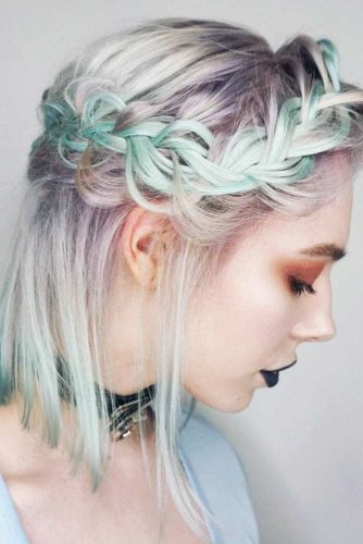 Shoulder Length Hair with Braids picture 1