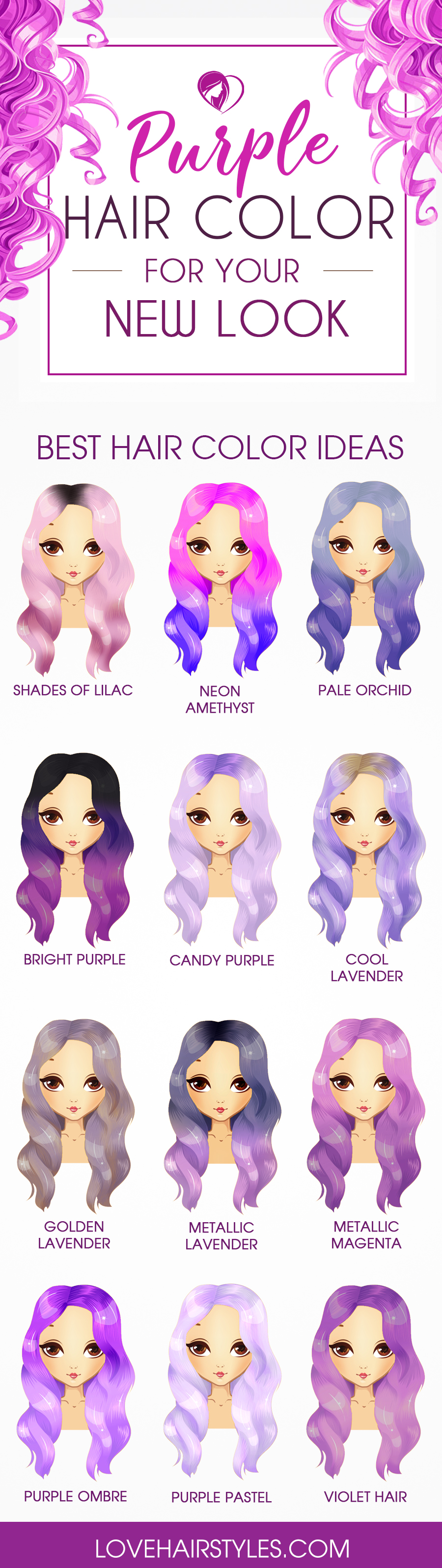12 Tempting And Attractive Purple Hair Looks  LoveHairStyles.com