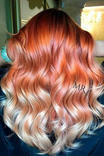 Copper to Blonde Ombre
