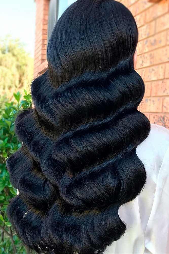 Big Voluminous Waves Long Hairstyles