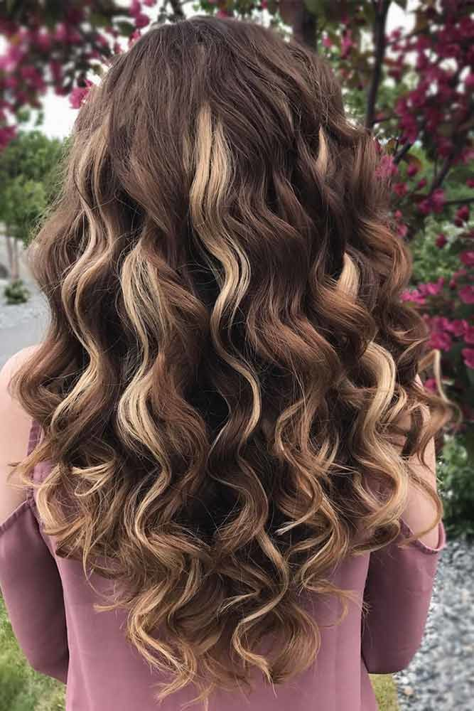 Chocolate Curls Long Hairstyles