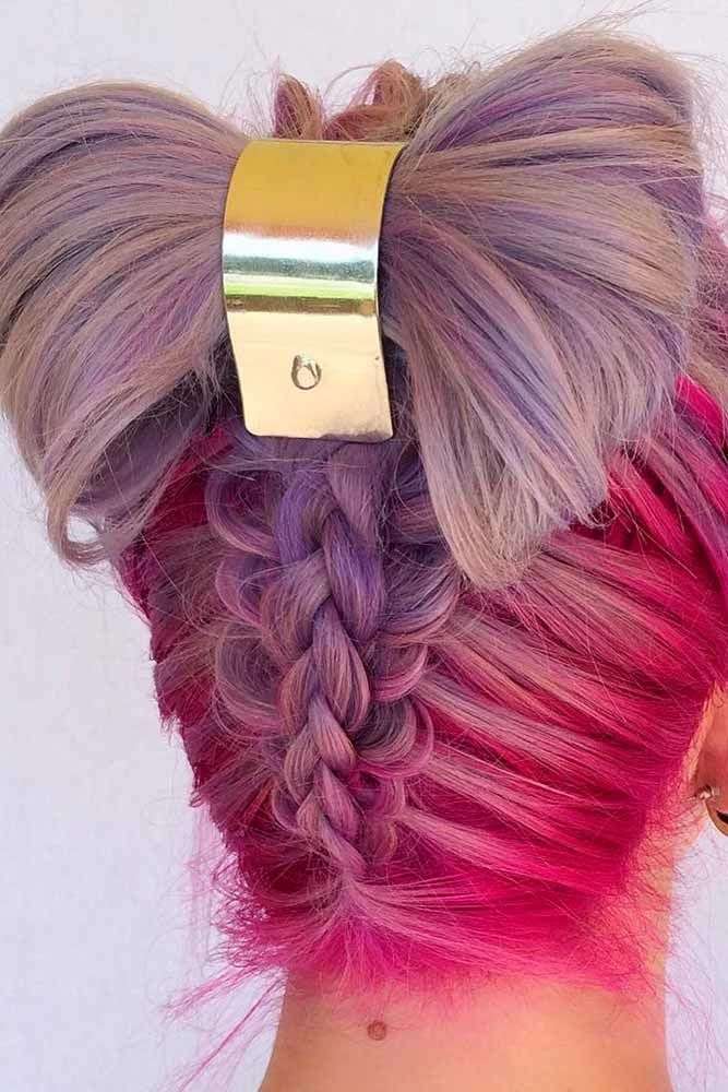 Bow Long Hairstyles For Unicorn Princess