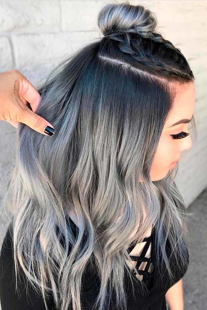 Ash Ombre Long Hairstyles