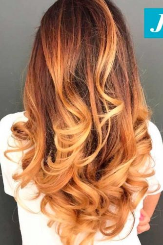 Brown to Peach Ombre