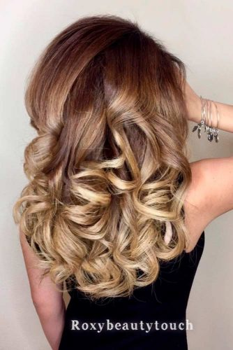 Long Curly Sandy Ombre