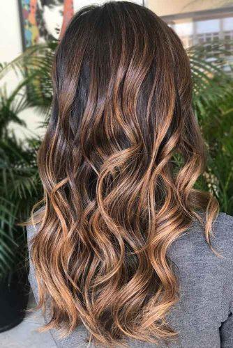 Chestnut Brown Highlights #highlights #brunette #brownhair