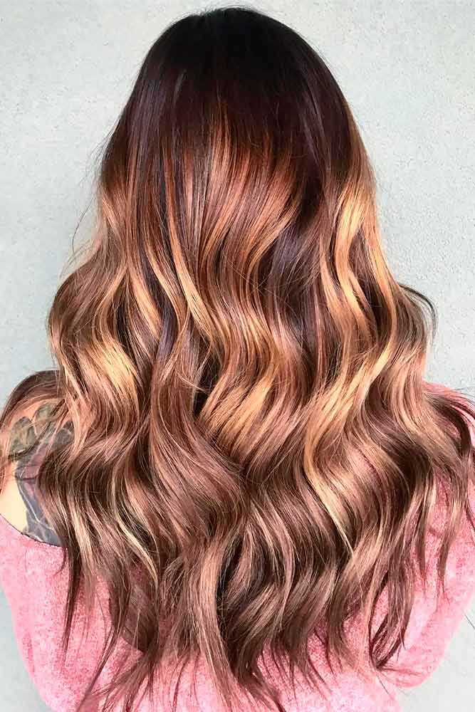 Chestnut Brown Hair With Highlights Layers #brownhairwithhighlights #highlights
