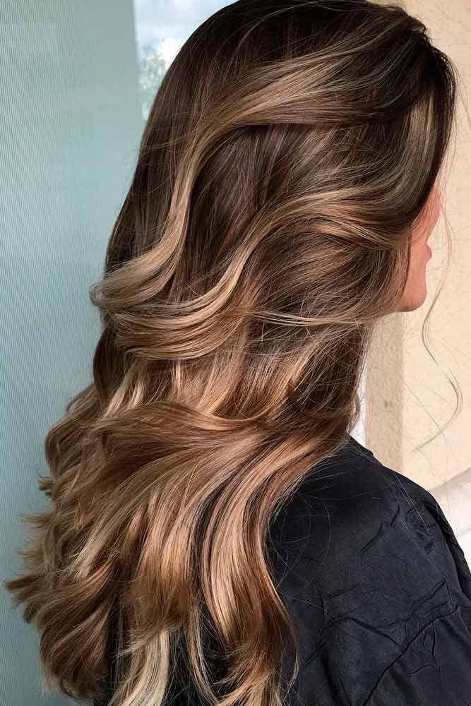 Fabulous Brown Hair With Highlights Long #brownhairwithhighlights #highlights