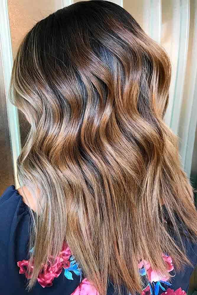 Cool And Trendy Autumn Colors Waves #brownhairwithhighlights #highlights