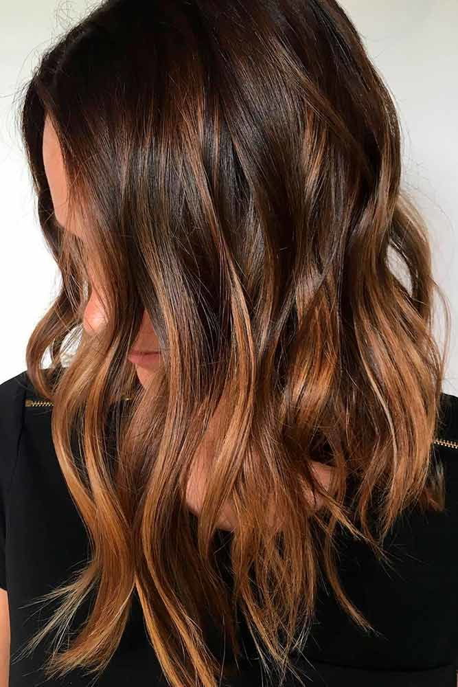 Chestnut Brown Hair With Highlights Bob #brownhairwithhighlights #highlights