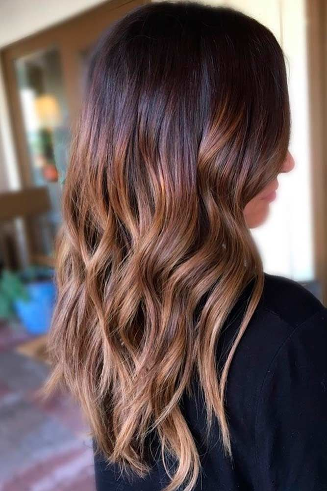 Honey-Shaded Brown Hair With Highlights Long #brownhairwithhighlights #highlights
