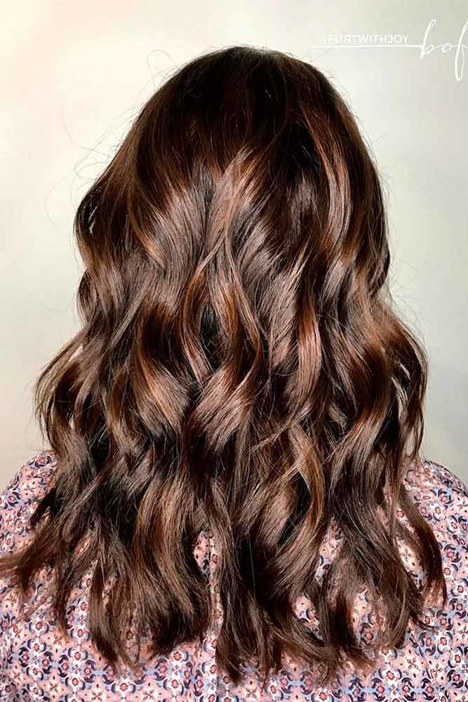 Caramel Highlights For Dark Brown Hair Sleek #brownhairwithhighlights #highlights
