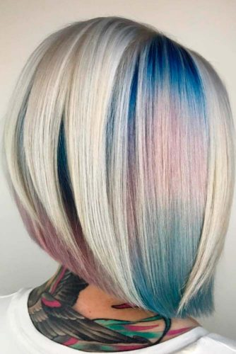 Geode Hair Color on Bob Haircut picture1