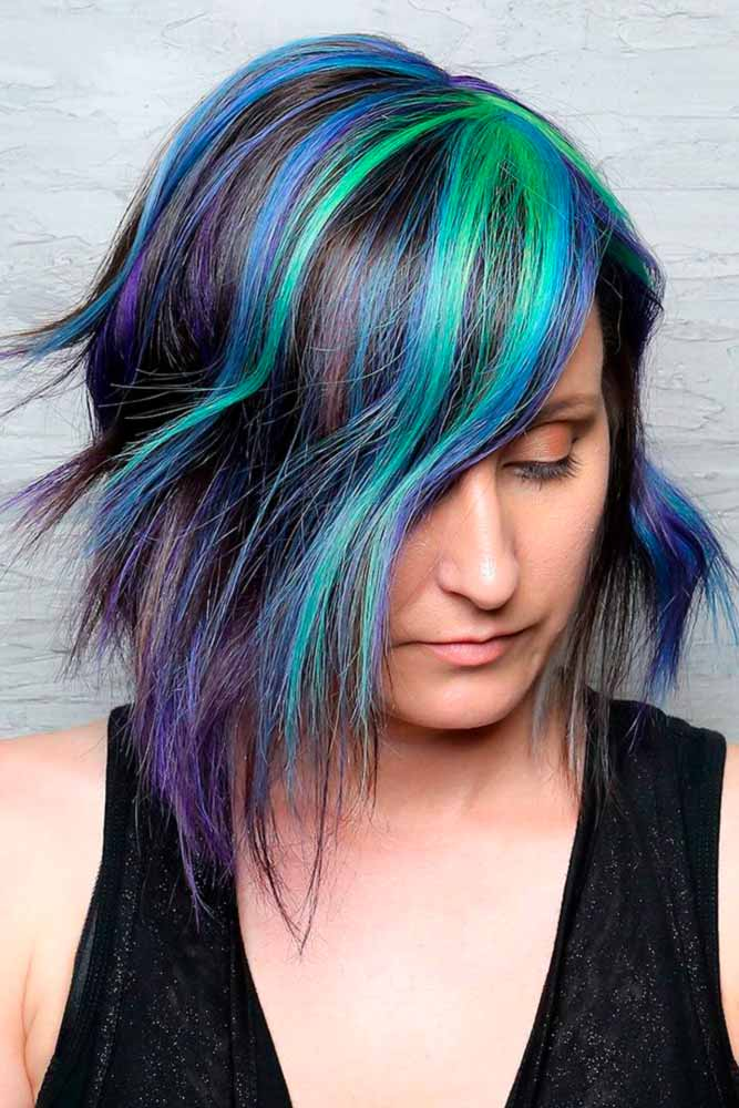Beautiful Colorful Geode Hair picture1