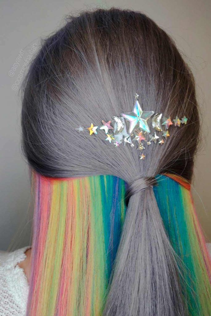 Rainbow Grey Hair