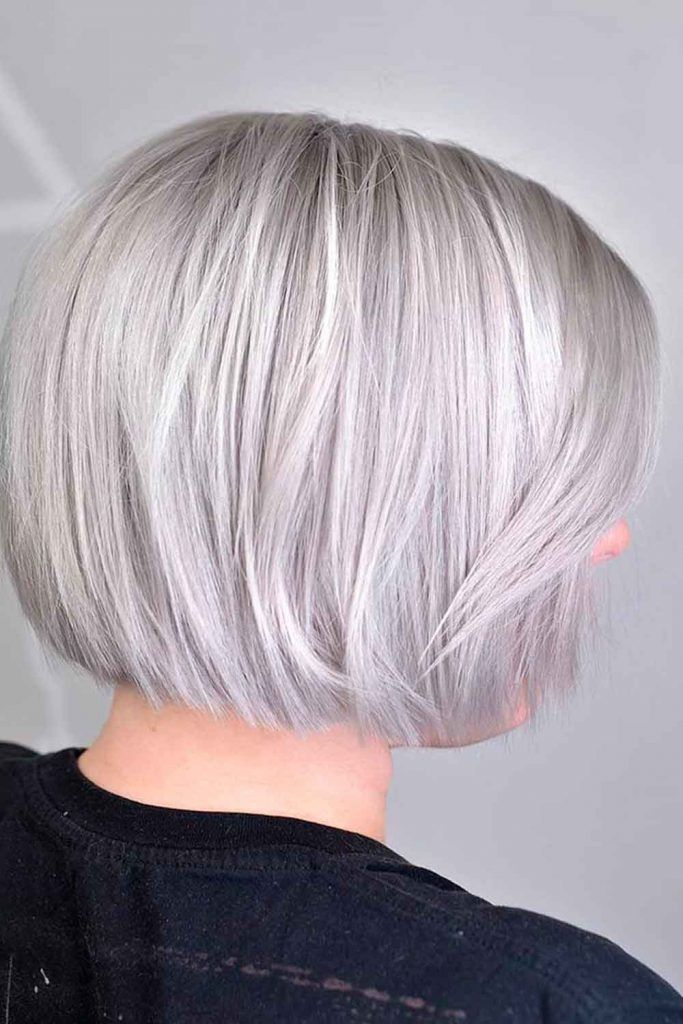 Gray And White Ombre Hair