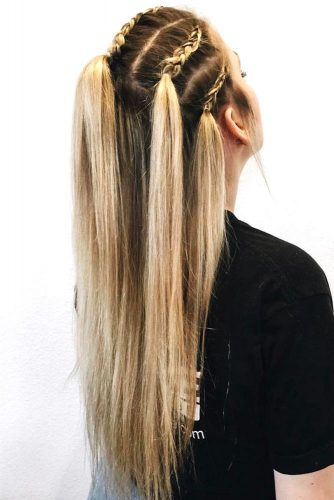 Braided Hairstyles for Hot Summer Dutch #ponytail #half-up #braids