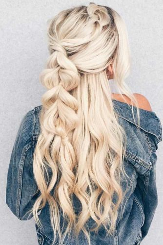 Braided Hairstyles for Hot Summer Pull Trough #ponytail #half-up #braids