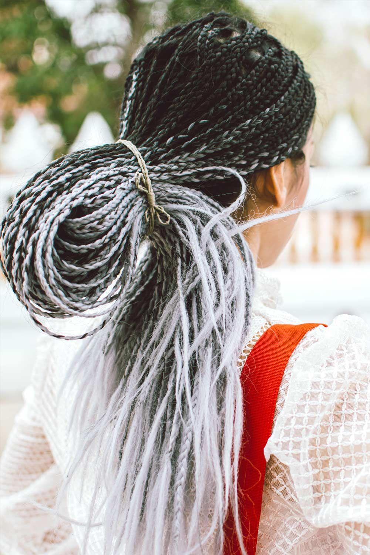 Grey Ombre Kanekalon Hair