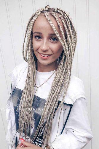 Long Blonde Kanekalon Braiding Hair #kanekalonhair #braids