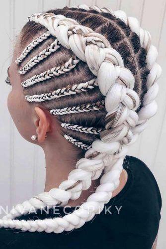 Blonde Kanekalon Braiding Hairstyle