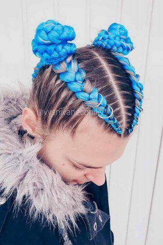 Blue Kanekalon Braiding Hair #kanekalonhair #braids