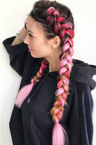 Pink Kanekalon Braids picture3